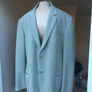 Armani Collezioni gray two button wool blazer 52R